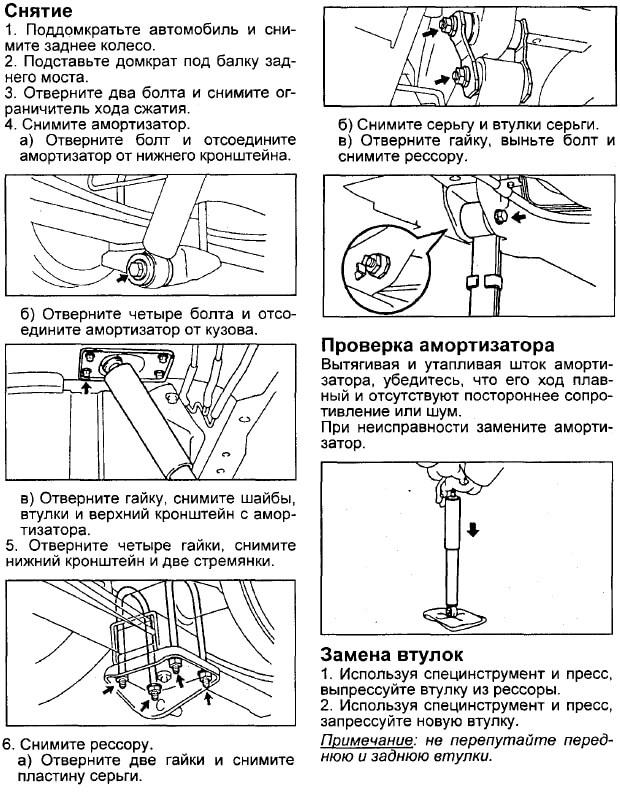 Заміна заднього амортизатора Toyota Corona/Caldina