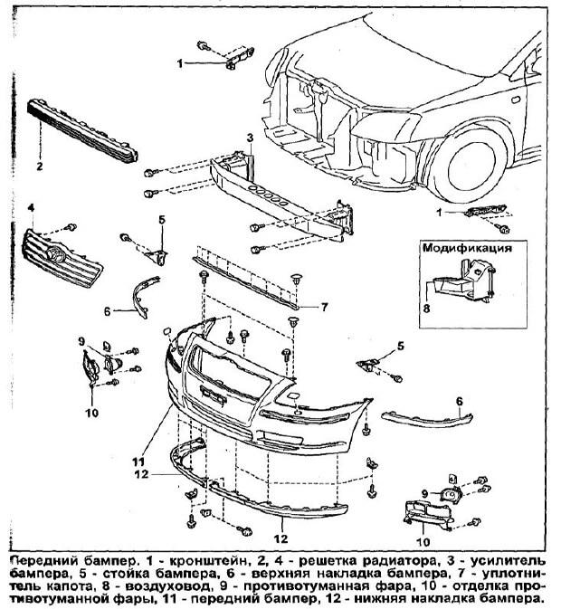 Заміна бампера Toyota Avensis