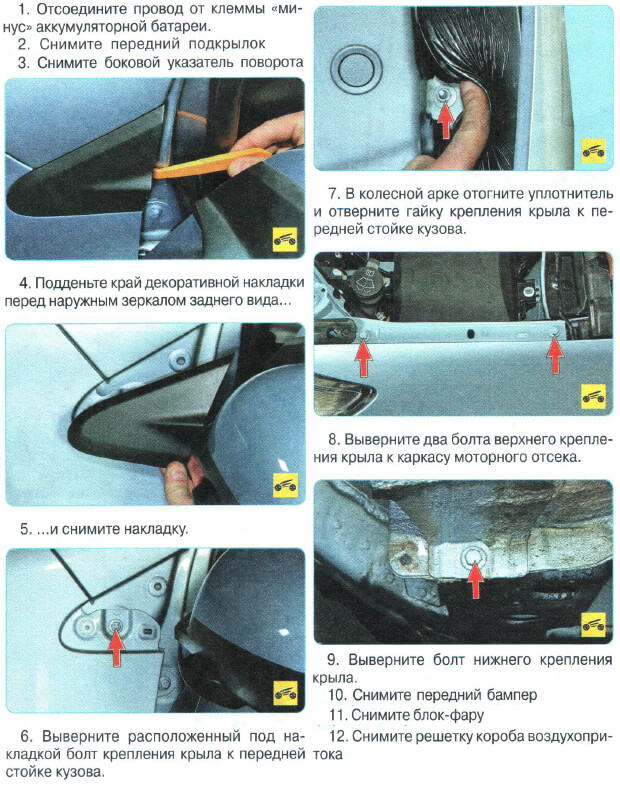 Заміна крила Chevrolet Aveo T300
