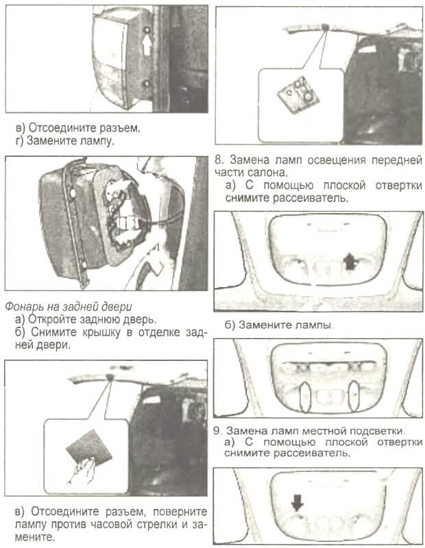 Заміна ламп Hyundai Starex (H-1)