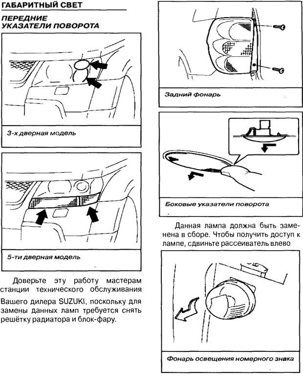 Заміна ламп на Suzuki Grand Vitara