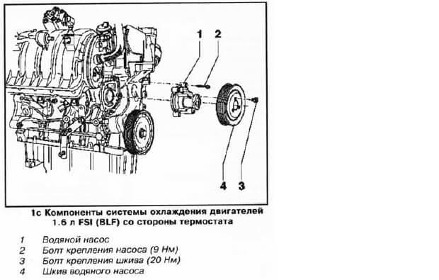 Заміна помпи Volkswagen Passat B6