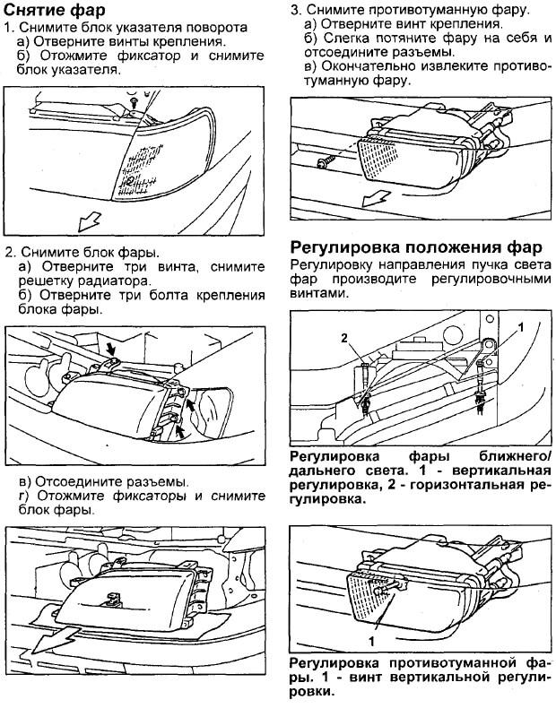 Заміна фари Toyota Corona/Caldina