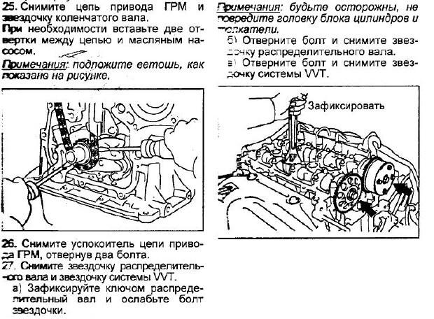 Заміна ланцюга ГРМ Toyota Avensis