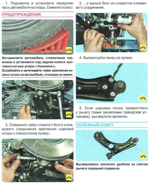 Заміна кульової Chevrolet Aveo T300