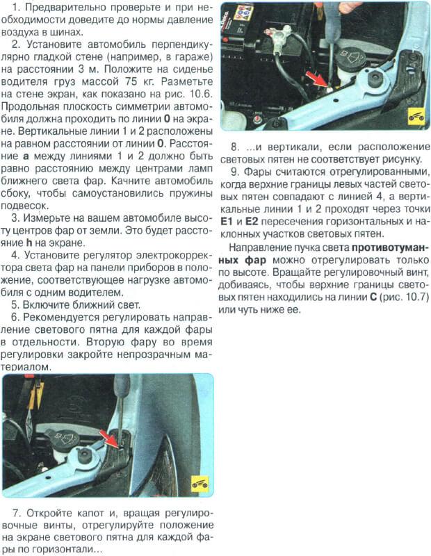 Регулювання фар Toyota Avensis