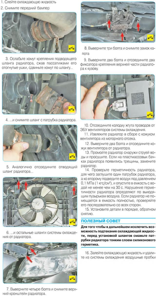 Заміна радіатора Тойота Королла