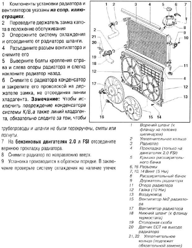 Заміна радіатора Volkswagen Passat B6