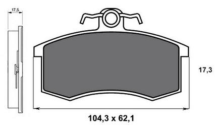 Гальмівні колодки на ВАЗ 2114