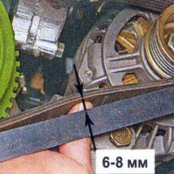 Як натягнути ремінь генератора