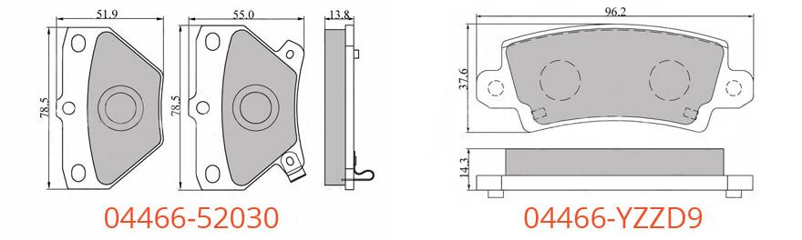 Гальмівні колодки на Тойоту Короллу