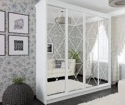 Біла класична шафа-купе з декором.: 6 830 грн. - Меблі для спальні ...